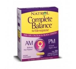 Natrol - Complete Balance Menopause AM&PM Form / 60 caps Хранителни добавки, Здраве и тонус, Формули за жени