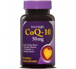 Natrol - CoQ-10 50mg / 30 softgels Хранителни добавки, Антиоксиданти, Коензим Q10