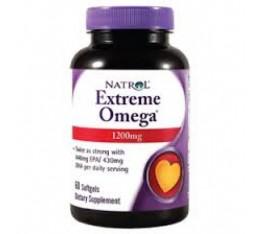 Natrol - Extreme Omega / 60 gel caps Хранителни добавки, Мастни киселини, Рибено масло