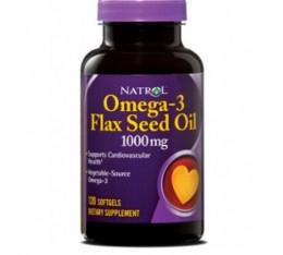 Natrol - Flax Seed Oil 1000mg / 120 gel caps Хранителни добавки, Мастни киселини, Ленено масло