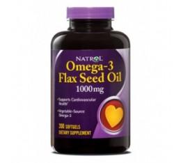 Natrol - Flax Seed Oil 1000mg / 200 gel caps Хранителни добавки, Мастни киселини, Ленено масло