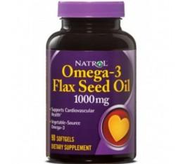 Natrol - Flax Seed Oil 1000mg / 90 softgels Хранителни добавки, Мастни киселини, Ленено масло
