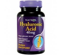 Natrol - Hyaluronic Acid 40mg. / 30 caps Хранителни добавки, За стави и сухожилия