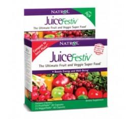 Natrol - JuiceFestiv (VeggieFestiv + FruitFestiv) / 2 x 60 caps