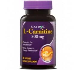 Natrol - L-Carnitine 500mg. / 30 caps Хранителни добавки, Отслабване, Л-Карнитин