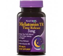 Natrol - Melatonin 3mg Time Release / 100 tab Хранителни добавки, Здраве и тонус, В подкрепа на съня