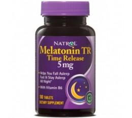 Natrol - Melatonin 5mg Time Release / 100 tab Хранителни добавки, Здраве и тонус, В подкрепа на съня