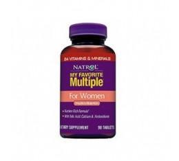Natrol - My Favorite Multiple For Women / 90 tab Хранителни добавки, Здраве и тонус, Формули за жени