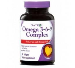Natrol - Omega 3-6-9 Complex / 60 softgel Хранителни добавки, Мастни киселини, Омега 3-6-9