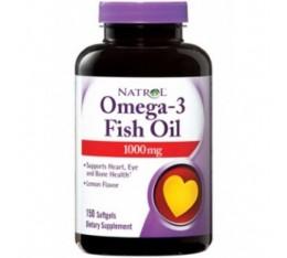 Natrol - Omega-3 Fish Oil 1000mg. / 150 softgel Хранителни добавки, Мастни киселини, Рибено масло