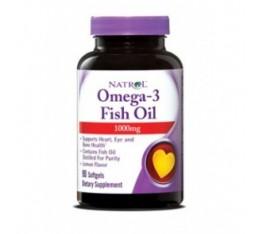 Natrol - Omega-3 Fish Oil 1000mg. / 90 softgel Хранителни добавки, Мастни киселини, Рибено масло