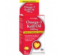 Natrol - Omega-3 Krill Oil 1000 mg. / 30 softgel Хранителни добавки, Мастни киселини, Крилово масло