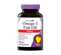 Natrol - Omega-3 Fish Oil 1000mg. / 60 softgel Хранителни добавки, Мастни киселини, Рибено масло
