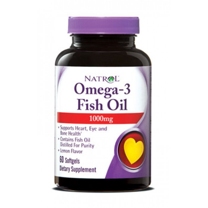 Natrol - Omega-3 Fish Oil 1000mg. / 60 softgel