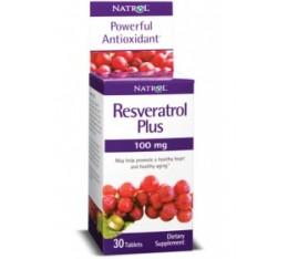 Natrol - Resveratrol Plus 100mg. / 30 tabs Хранителни добавки, Антиоксиданти, Здраве и тонус