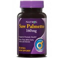 Natrol - Saw Palmetto 160mg. / 30 softgel Хранителни добавки, Здраве и тонус, Здраве за мъжа