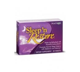 Natrol - Sleep'n Restore / 20 tabs Хранителни добавки, Здраве и тонус, В подкрепа на съня