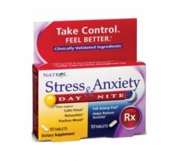 Natrol - Stress & Anxiety / 10+10 tabs Хранителни добавки, Здраве и тонус