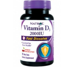 Natrol - Vitamin D3 2,000 IU Fast Dissolve / 90 tabs Хранителни добавки, Витамини, минерали и др., Витамин D