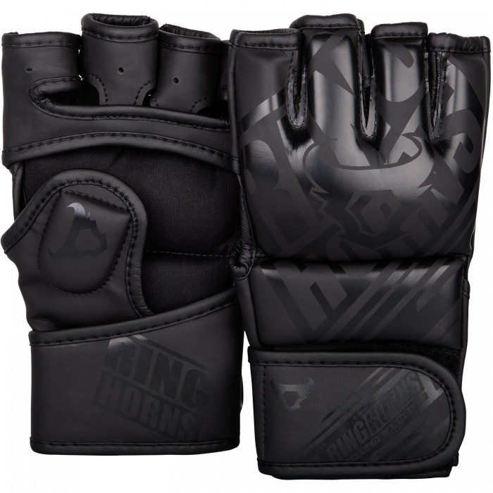 ММА Ръкавици - Ringhorns Nitro MMA Gloves - Black/Black​