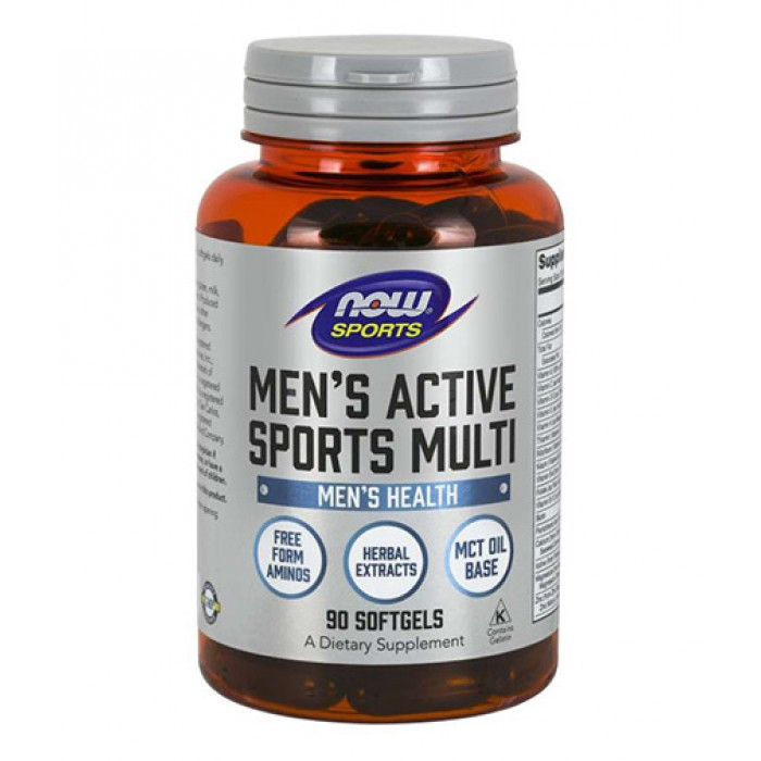 NOW - Men's Active Sports Multi / 90 softgels.