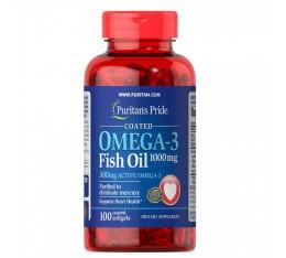 Puritan's Pride - Omega-3 Fish Oil / 1000 мг  -100 дражета Хранителни добавки, Мастни киселини, Омега 3-6-9