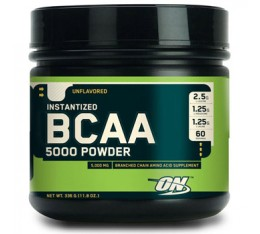 Optimum Nutrition - BCAA 5000 Powder / 336 gr Хранителни добавки, Аминокиселини, Разклонена верига (BCAA)