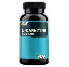 Optimum Nutrition - L-Carnitine 500 / 60 tab Хранителни добавки, Отслабване, Л-Карнитин