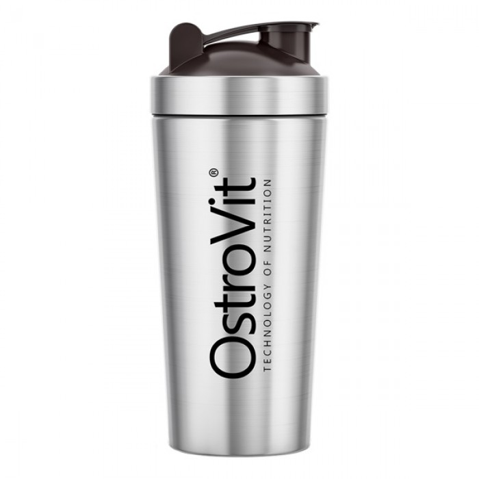 OstroVit - Metal / Steel Shaker / 750 ml / Silver