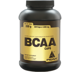 Peak - BCAA Caps / 220 caps Хранителни добавки, Аминокиселини, Разклонена верига (BCAA)