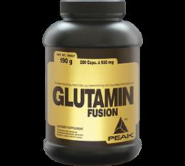 Peak - Glutamin Fusion / 200 caps Хранителни добавки, Аминокиселини, Глутамин