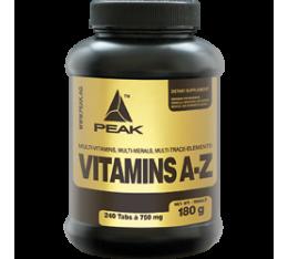 Peak - Vitamins (A-Z) / 240 tab Хранителни добавки, Витамини, минерали и др., Мултивитамини