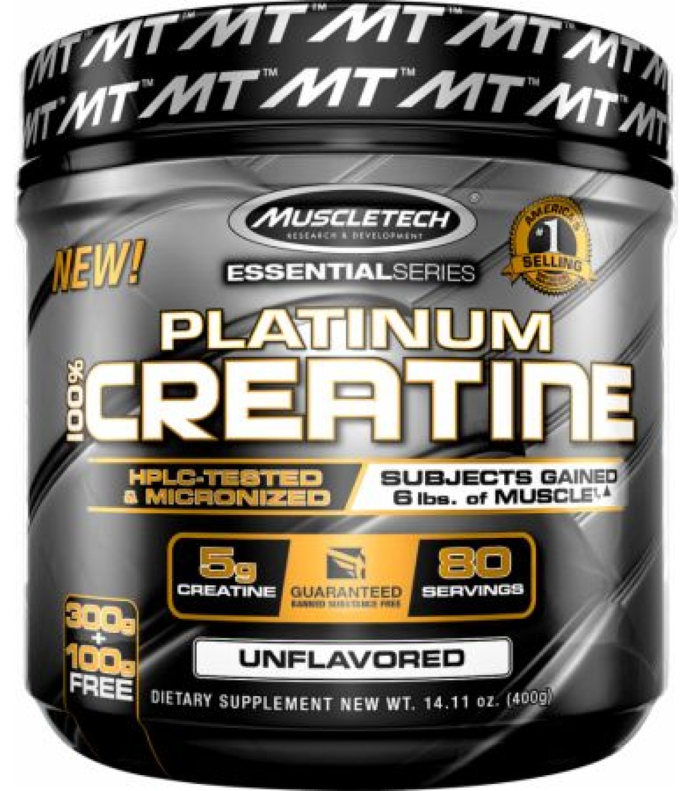 MuscleTech - Platinum 100% Creatine / 400 gr.
