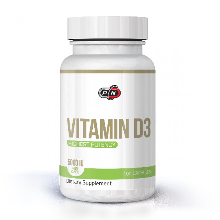 Pure Nutrition - Vitamin D3 5000 IU 100 капсули ​