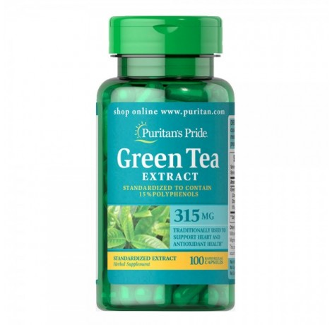 Puritan's Pride Green Tea Extract / 315 мг - 100 капсули​