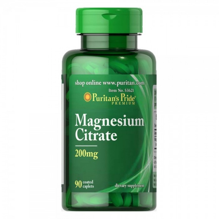 Puritan's Pride - Magnesium Citrate 200 mg - 90 капсули​