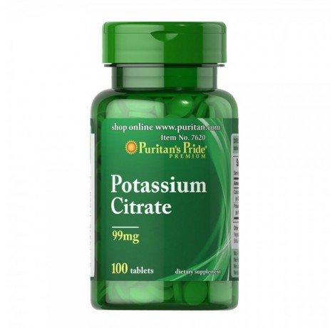 Puritan's Pride - Potassium Citrate 99 mg  - 100 капсули​