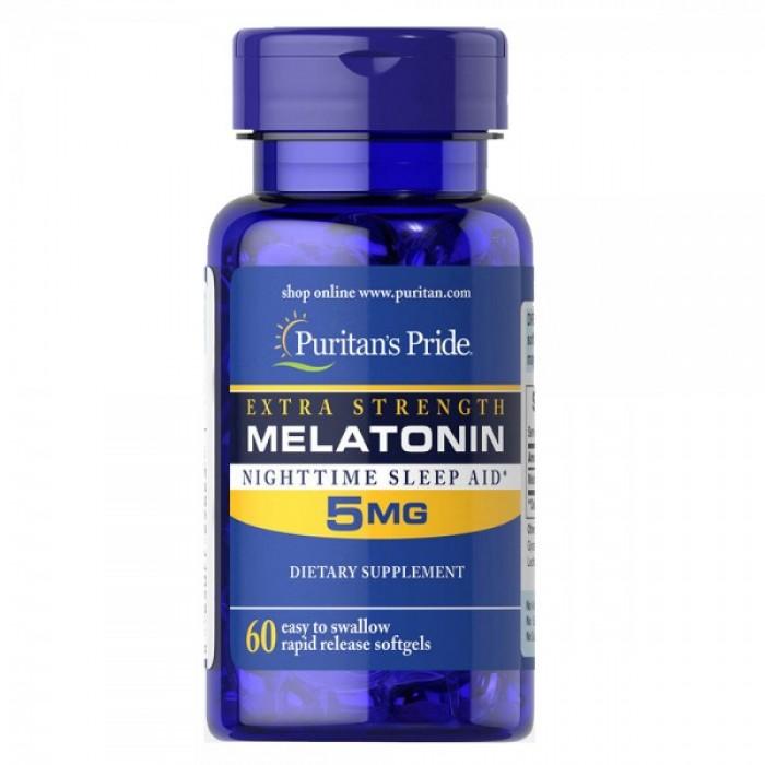 Puritan's Pride -  Extra strenght Melatonin 5mg / 60 таблетки