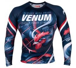 Рашгард - Venum Rooster Rashguard - Long Sleeves - Navy Blue/Orange Рашгарди