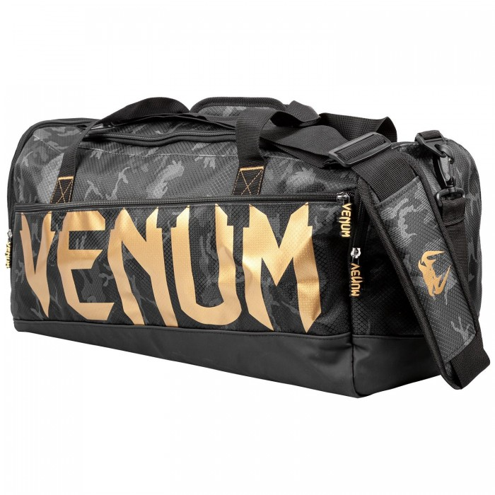 Спортен Сак - VENUM SPARRING SPORT BAG - Dark Camo/Gold​