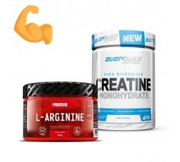 Стак за мускулна маса и сила - аргинин + креатин