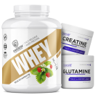 Стак - Swedish Whey Deluxe 2000g / + Creatine 300g + Glutamine 300g FREE ​
