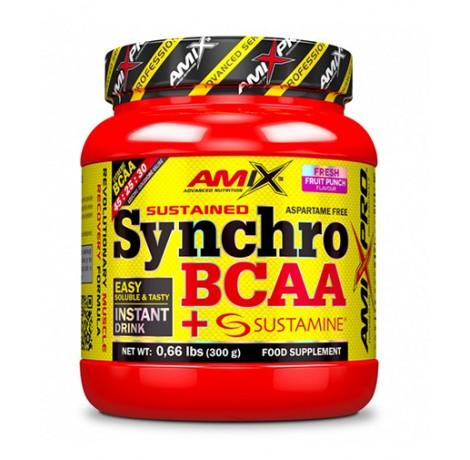 AMIX Synchro BCAA Powder / 300gr. Хранителни добавки, Аминокиселини, Разклонена верига (BCAA)