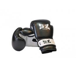 SZ Fighters - Боксови ръкавици (Естествена кожа) - черен цвят Бойни спортове и MMA, Боксови ръкавици