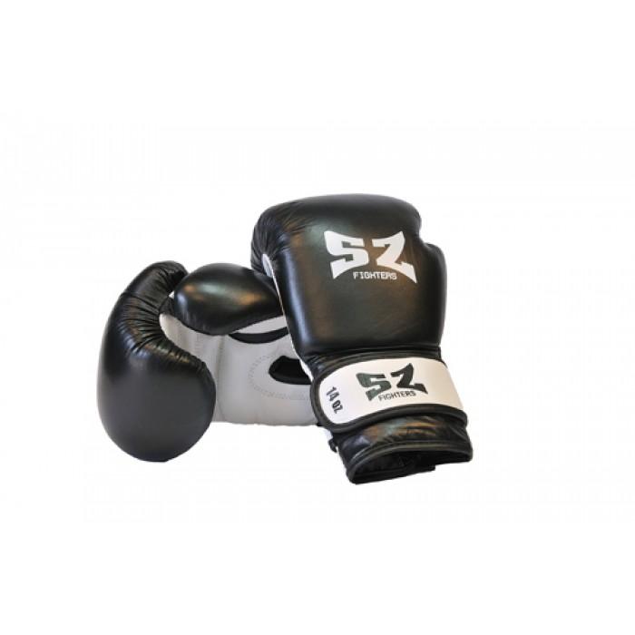 SZ Fighters - Боксови ръкавици (Естествена кожа) - черен цвят