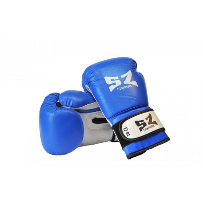 SZ Fighters - Боксови ръкавици (Естествена кожа) - син цвят