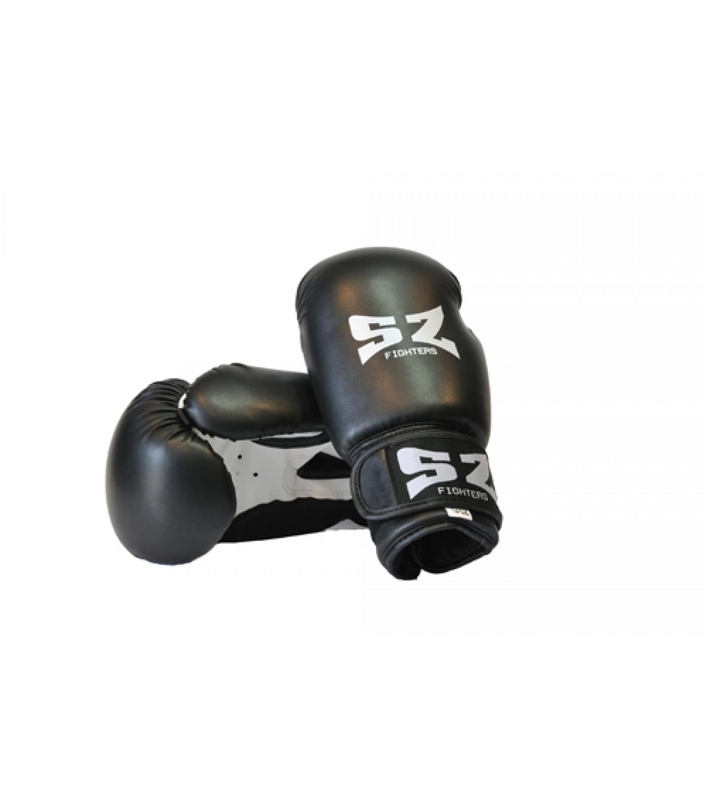 SZ Fighters - Боксови ръкавици (Изкуствена кожа) - черен цвят