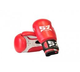 SZ Fighters - Боксови ръкавици (Изкуствена кожа) - червен цвят Бойни спортове и MMA, Боксови ръкавици