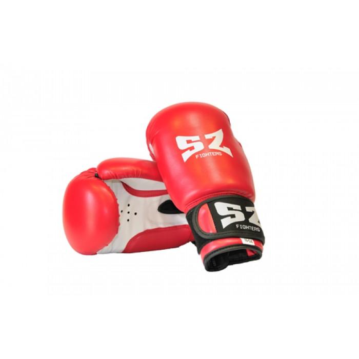 SZ Fighters - Боксови ръкавици (Изкуствена кожа) - червен цвят