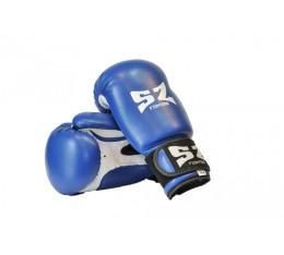 SZ Fighters - Боксови ръкавици (Изкуствена кожа) - син цвят Бойни спортове и MMA, Боксови ръкавици